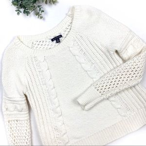 American Eagle Thick Cable Knit Pullover Sweater